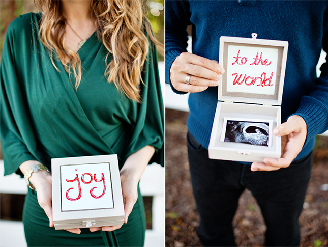 christmas ultrasound pregnancy announcements