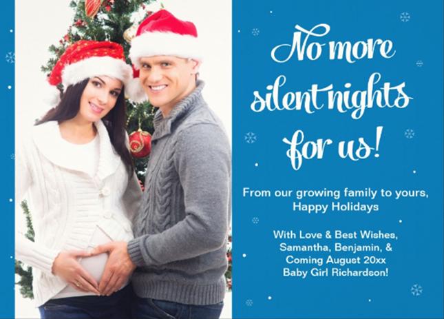 silent night pregnancy announcement