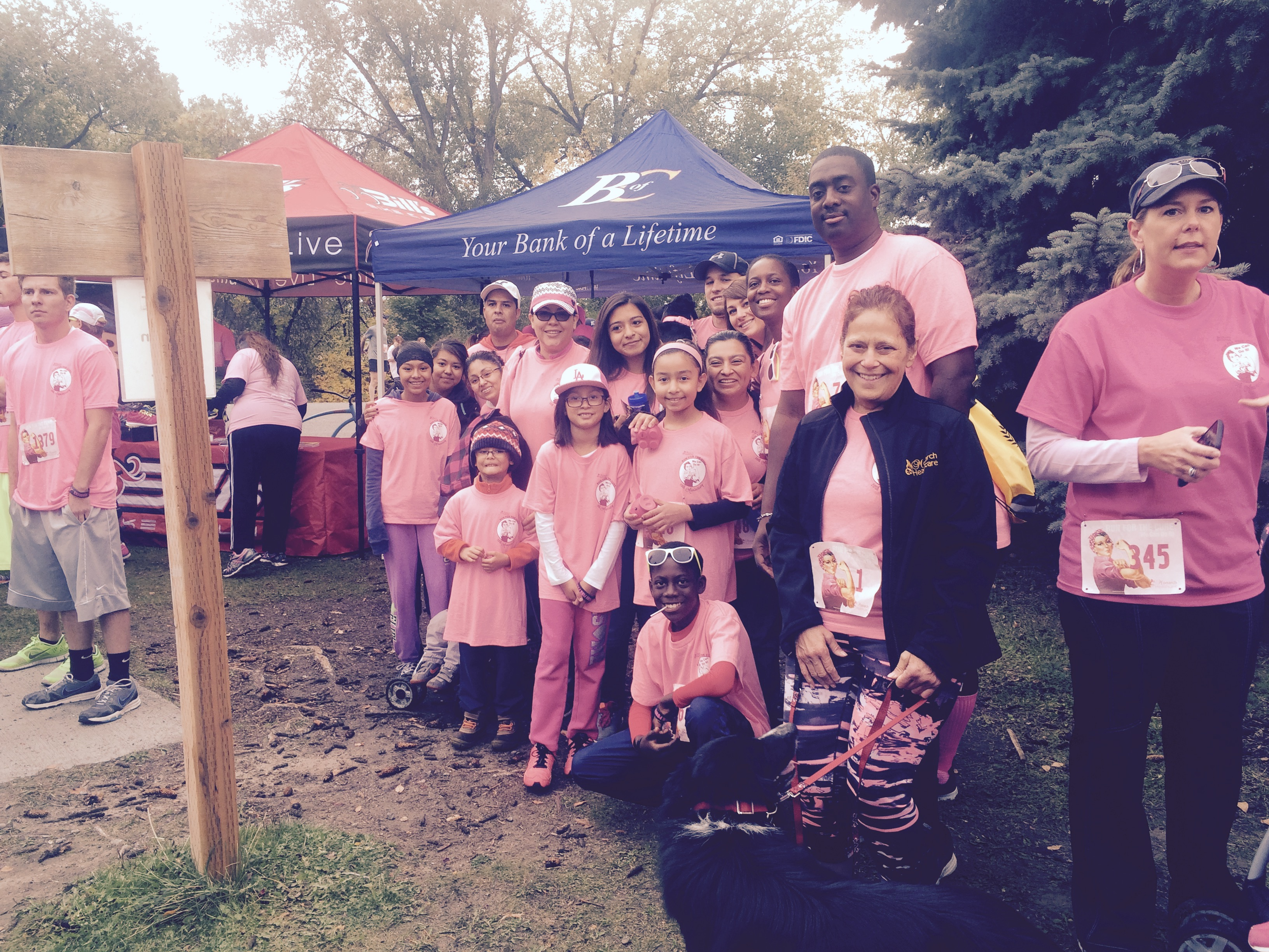 Run for the Cure Idaho Falls Oct 5 2015 Monarch Healthcare team