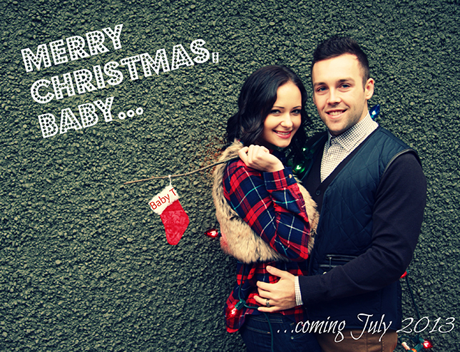 merry christmas pregnancy announcements