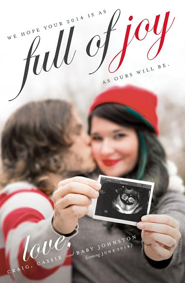 sweet christmas sonogram pregnancy announcement
